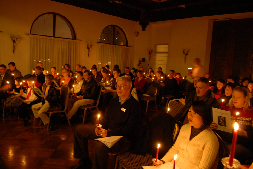 Christmas Eve Service, Trinity Congregation, Shanghai, China